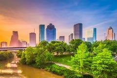 休斯敦,得克萨斯,美国地平线 免版税库存图片