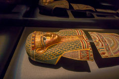 休斯敦,美国- 2017年1月12日:关闭古埃及的结构在自然科学国家博物馆  库存照片