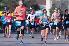 休斯敦2015年马拉松运动员 库存照片
