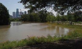 休斯敦洪水 免版税图库摄影