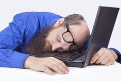 休眠在工作-生意人(系列) 免版税图库摄影