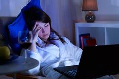 休眠妇女年轻人 免版税库存图片