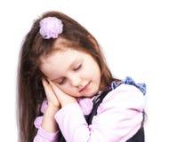 休眠接近的矮小的公主  免版税库存照片