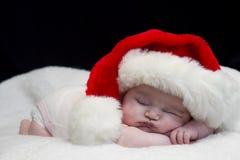 休眠的圣诞老人婴孩 免版税库存照片