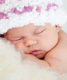 休眠的女婴 免版税库存图片