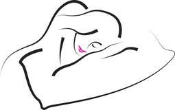 休眠的妇女 向量例证