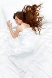 休眠的妇女 图库摄影