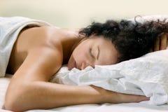 休眠的妇女 免版税图库摄影