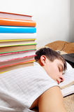 休眠的学员疲倦 库存图片
