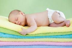 休眠的婴孩 免版税库存图片