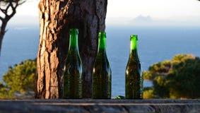 休达西班牙,看法向直布罗陀 免版税库存图片