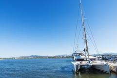 休闲口岸在奥尔比亚,撒丁岛,意大利 库存图片