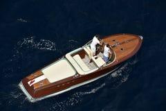休闲小船,意大利 免版税库存图片