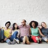 休闲配合幸福行家种族概念 免版税库存图片