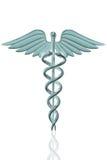 众神使者的手杖医疗符号 库存照片