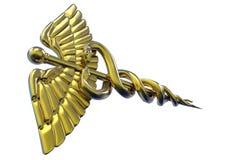 众神使者的手杖标志 库存照片