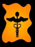 众神使者的手杖框架 库存图片