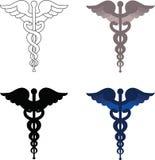 众神使者的手杖符号 免版税库存照片