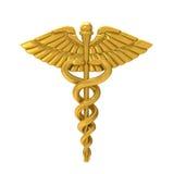 众神使者的手杖医疗标志 向量例证