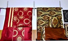 优秀品质床单和枕头设计 库存图片