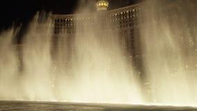 优秀喷泉展示在维加斯 股票录像