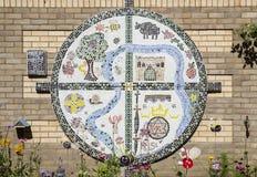 优秀大学毕业生在埋葬St埃德蒙兹的Carta马赛克 免版税库存图片