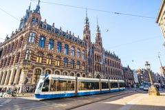 优秀大学毕业生广场在阿姆斯特丹,荷兰 库存照片