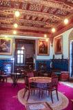 优等的室在穆罕默德阿里宫殿在开罗,埃及 免版税图库摄影