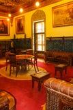 优等的室在穆罕默德阿里宫殿在开罗,埃及 免版税库存照片
