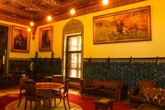 优等的室在穆罕默德阿里宫殿在开罗,埃及 图库摄影