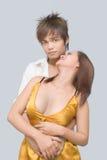 优等的恋人青少年的招标 图库摄影
