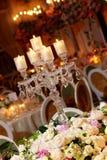 优等的设置表婚礼 免版税库存照片