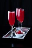 优等的酒浸樱桃Bellini 库存照片