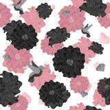 优美的无缝的花卉样式 向量例证