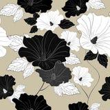 优美的无缝的花卉样式 库存例证