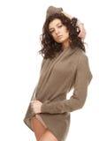 优美的模型毛线衣 库存图片