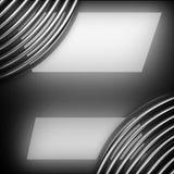 优美的金属背景 3d查出被回报的视频空白世界 库存照片