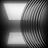 优美的金属背景 3d查出被回报的视频空白世界 免版税库存图片