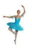 优美芭蕾舞女演员跳舞美妙的年轻人 库存图片