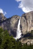 优胜美地瀑布,优胜美地国家公园,加利福尼亚,美国- 2016年5月16日 免版税图库摄影