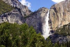 优胜美地瀑布,优胜美地国家公园,加利福尼亚,美国- 2016年5月16日 免版税库存照片