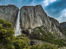 优胜美地瀑布,yoesmite国立公园,美国 免版税库存照片