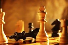 优胜者和失败者一盘棋的 免版税库存照片