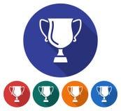 优胜者战利品杯子圆的象  库存例证