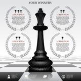 优胜者模板 免版税图库摄影