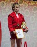 优胜者,埃琳娜Bondareva 免版税库存图片