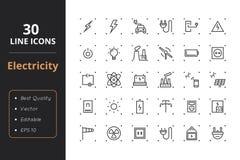 30优质能量线象 免版税库存图片