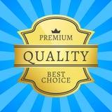 优质被隔绝的质量最佳的挑选金黄标签 库存例证
