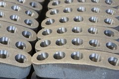 优质铁熔铸的零件 免版税图库摄影