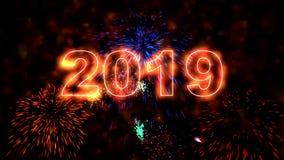 优质集合新年动画 概念新年好 库存例证